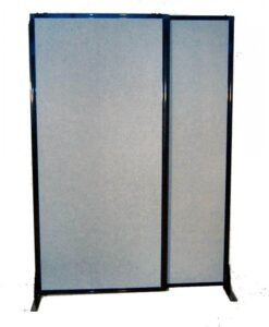 Afford-A-Wall Sliding Mobile Room Divider Fabric No Wheels