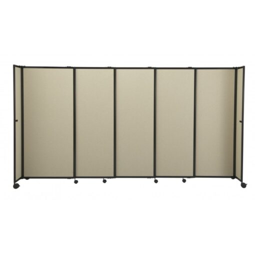 StraightWall Acoustic Portable Partition Brown Fabric