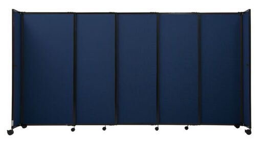 StraightWall Acoustic Portable Partition Navy Fabric