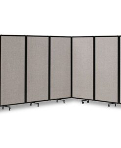 360 Acoustic Portable Room Divider Cloud Grey Fabric