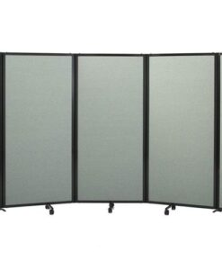 360 Acoustic Portable Room Divider Curved Fabric