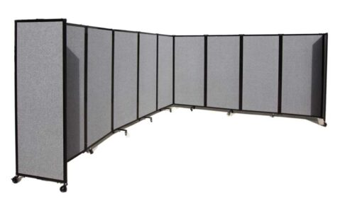 360 Acoustic Portable Room Divider Grey Fabric