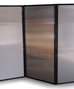 Afford-A-Wall Folding Room Divider, polycarbonate panels, zig-zag configuration