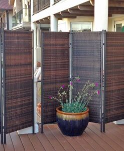 3 panel wicker screen
