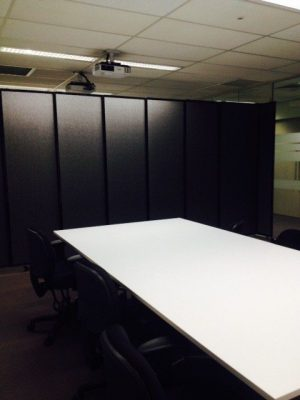Office Partitions used to make 5 movable rooms