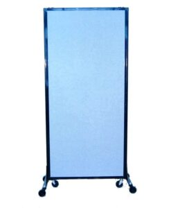 Afford-A-Wall Sliding Mobile Room Divider Fabric Closed Wheels
