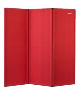 FP6 Economy Freestanding Portable Partition Red