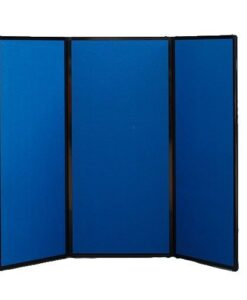 Freestanding Portable Privacy Screen Blue Fabric