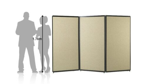 Freestanding Portable Privacy Screen Beige Fabric