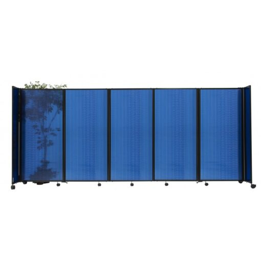 StraightWall Acoustic Portable Partition Blue Polycarbonate