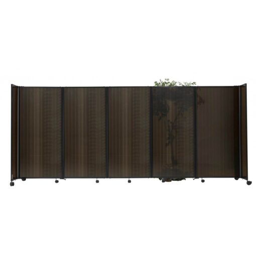 StraightWall Acoustic Portable Partition Brown Polycarbonate