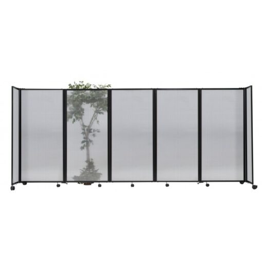 StraightWall Acoustic Portable Partition Clear Opaque Fabric