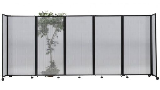 StraightWall Acoustic Portable Partition Clear Opaque Polycarbonate
