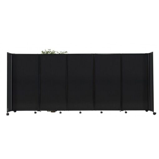 StraightWall Acoustic Portable Partition Dark Gray Polycarbonate