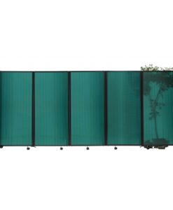 StraightWall Acoustic Portable Partition Green Polycarbonate