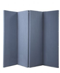 Versifold Acoustic Portable Room Divider Blue