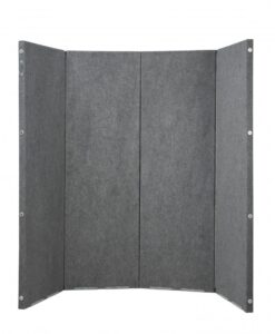 Versifold Acoustic Portable Room Divider Gray