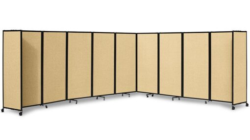 360 Acoustic Portable Room Divider Fabric Beige