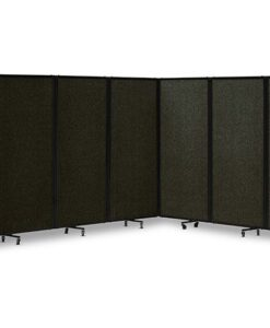 360 Acoustic Portable Room Divider Fabric Black