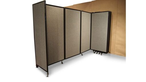 360 Folding Portable Room Divider, Wall Mountable, partially open