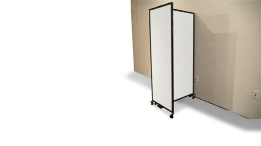 Sliding Room Partition, Wall Mountable, semi folded to wall.