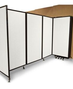 Folding Room Divider, Wall Mountable, partially folded open from wall