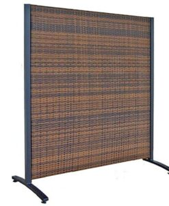 Outdoor Wicker Privacy Screen Partition