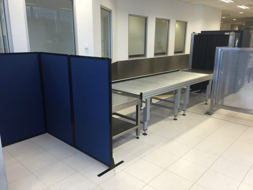 Sydney airport custom height portable partition