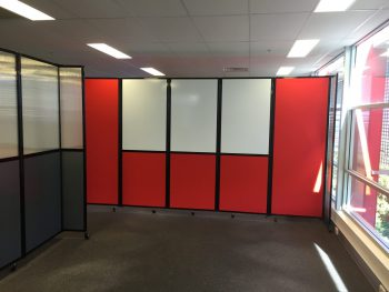 Office Whiteboard and Acoustic Partition for Meeting Room